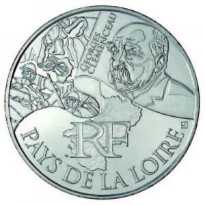 """10 Euros Argent """"Euro des Régions"""""""