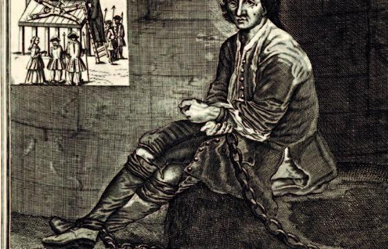 Le bandit Louis Mandrin, représenté dans sa prison de Valence avant son exécution