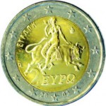 Europa sur la pièce grecque de 2 euros