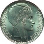 La Marianne de Pierre Turin sur une pièce de 20 francs argent 1938