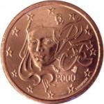 La Marianne de Laurent Jorio sur les pièces circulantes de 10, 20 et 50 centimes d'euros