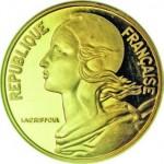 Cette représentation de Marianne par Henri Laggrifoul a orné les pièces de 5, 10, 20 et 50 centimes de 1962 à 2001