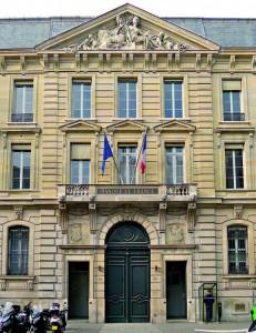La façade de la Banque de France à Paris.