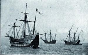 Répliques des trois navires de Christophe Colomb, datant de 1893
