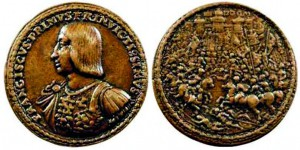 Médaille en fonte réalisée par Matteo del Nassaro et représentant François Ier.