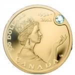Monnaie sertie de diamant émise lors du jubilée de Diamant de la Reine Elisabeth II