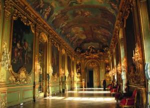 La galerie dorée de la Banque de France.