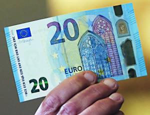Nouveau billet de 20 euros, qui entrera en circulation le 25 novembre prochain.