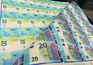 Planche du billet de 20 euros.