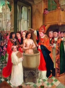 Le baptême de Clovis, le jour de Noël 496.