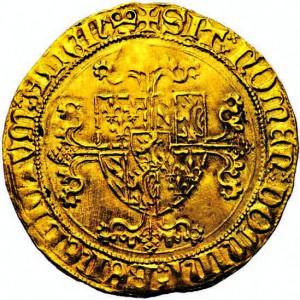 Ecu d'or de Bourgogne de Philippe le Bon, émis vers 1440. ©Jean Elsen / www.elsen.be