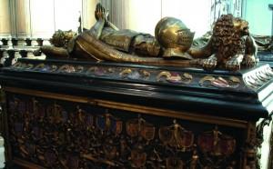 Tombeau de Charles le Téméraire en l'église Notre Dame de Bruges (Belgique).
