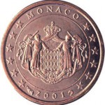 Monaco. 1 centime d'euro.