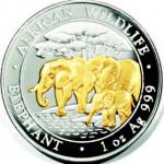 Série de pièces émises par la Somalie depuis 2004