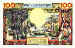 Billet des Etats d'Afrique Equatoriale.