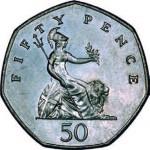 Grande-Bretagne. 50 pence.