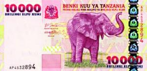 Billet de Tanzanie.