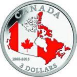 Canada. 3 dollars argent.
