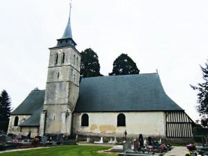 L'église de Berthouville aujourd'hui.