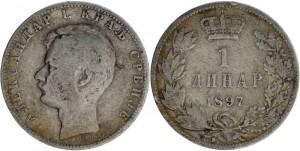 1 DINAR, ALEXANDRE I - 1897