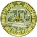 20 Francs trimétallique