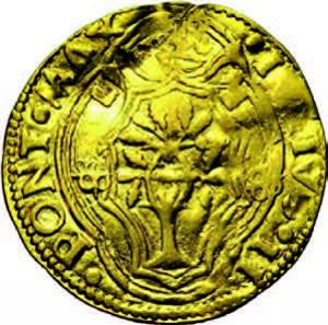 Ducat d'or émis à Bologne sous le Pape Jules II (1503-1513) ©Jean Elsen / www.elsen.be