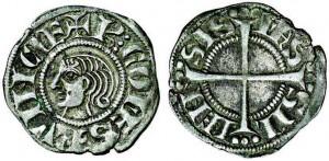 Denier d'argent de Charles Ier d'Anjou