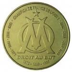 Pièce commémorative de 1 euro 1/2 consacrée à l'Olympique de Marseille et émise par la Monnaie de Paris en 2011