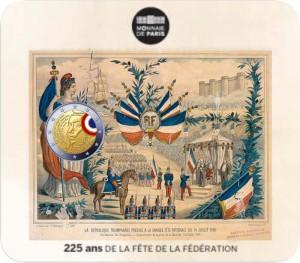 La 2 euros commémorative rappelle les origines de la Fête Nationale du 14 juillet