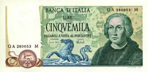 1973 - Billet de 5000 lires