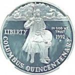 1992. Pièce de 1 dollar.