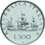 1958. Pièce de 500 lires