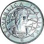 1989. Avers pièces de 200 et 500 lires