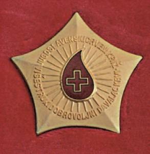 Médaille des donneurs de sang de Croatie