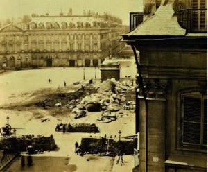 Chute de la colonne Vendôme pendant la Commune de Paris - monnaie de nécessité