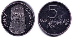5 Francs cupronickel, 1978