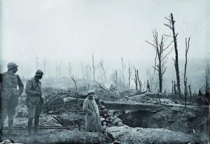 Tranchée française, pendant la bataille de Verdun en 1916