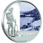 Australie, 1 dollar qui commémore la campagne de Gallipoli.