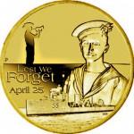 Australie, 1 dollar 2010 émis pour l'ANZAC Day.