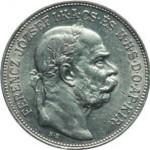 Hongrie, 2 couronnes ornée d'un buste couronné de l'empereur.