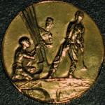 """Médaille """"Souvenir de l'ascension"""" émise lors de l'inauguration de la Tour Eiffel."""