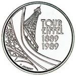 Pièce de 5 Francs frappée par la Monnaie de Paris en 1989.