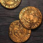 Création d'une monnaie d'or en 3D.