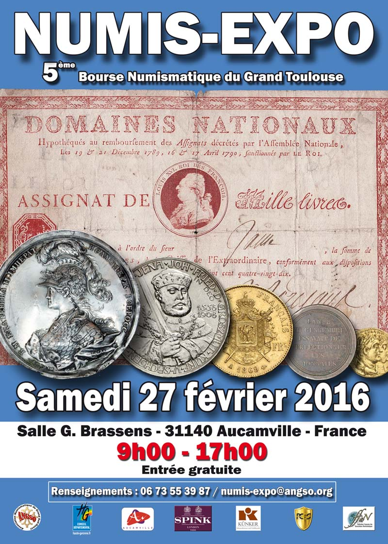 5e Numis-Expo - 27 février 2016 - Aucamville
