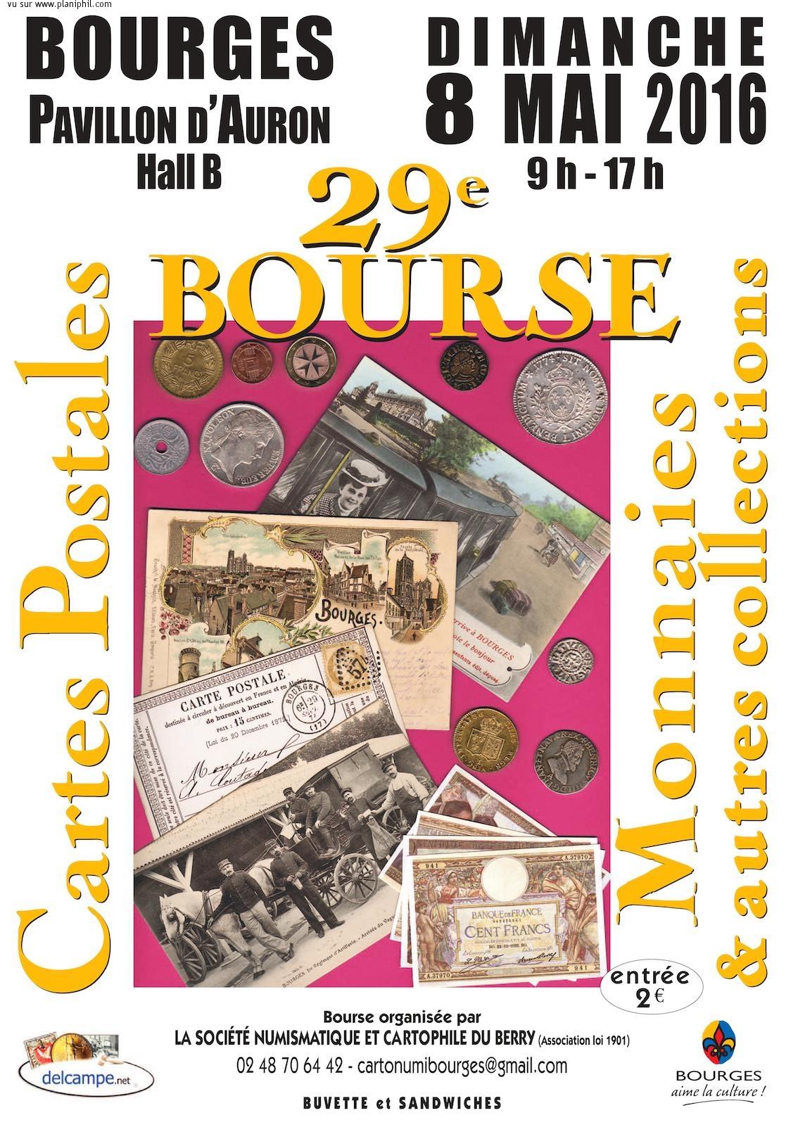 29e Bourse aux Monnaies - 8 mai 2016 - Bourges