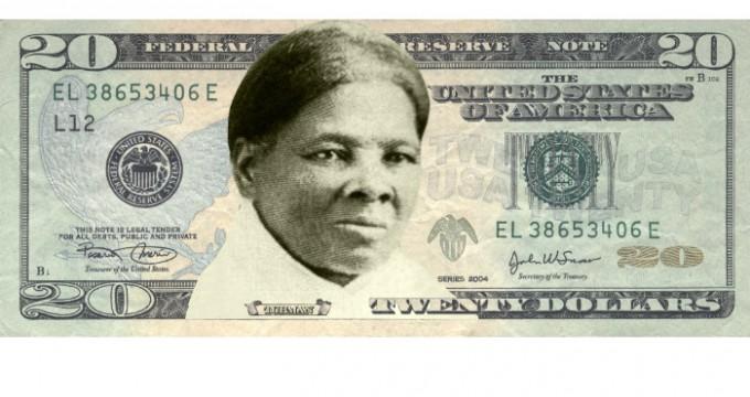 femme billet 20 dollars