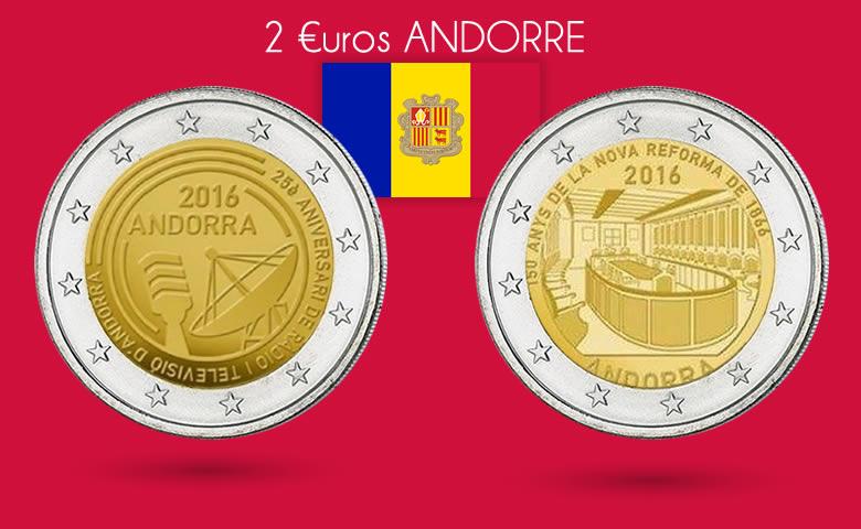 2 nouvelles 2€ Andorre 2016 bientôt émises