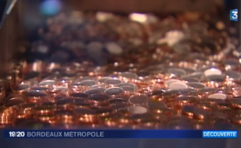 L'usine Pessac de la Monnaie de Paris sur France3 !