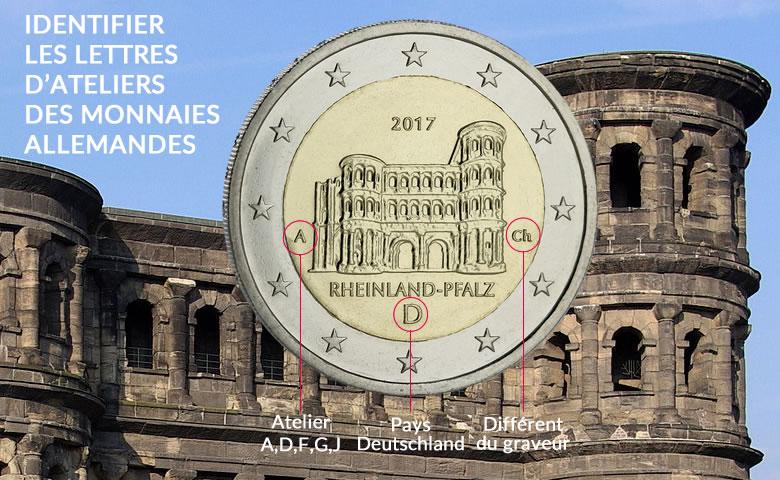 Savez-vous identifier les ateliers allemands sur les euros ?