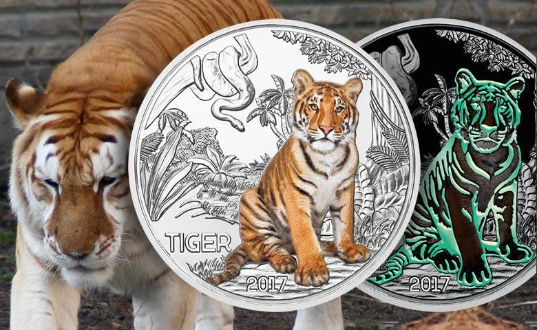 3 € Autriche le tigre colorisé, le méga succès